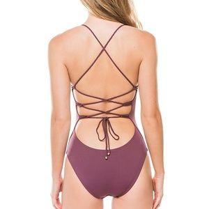 Vitamin A Swimwear JAYDAH Braid Bodysuit One Piece